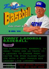 Tommy Lasorda Baseball Arcade Title Screen