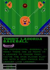 Tommy Lasorda Baseball Arcade The ball is hit.
