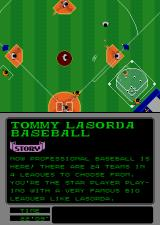 Tommy Lasorda Baseball Arcade Hit to the right.