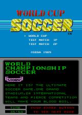 World Championship Soccer Arcade Title Screen.