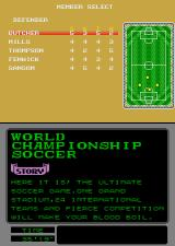 World Championship Soccer Arcade Player select.