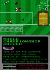 World Championship Soccer Arcade He shoots.
