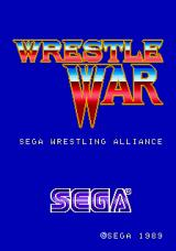Wrestle War Arcade Title Screen.