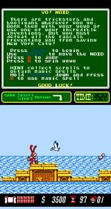 Yo! Noid Arcade Hit the bird.