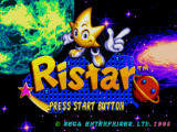 Ristar Windows Title screen