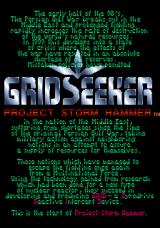Grid Seeker: Project Storm Hammer Arcade Title screen