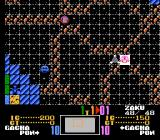SD Gundam World: Gachapon Senshi - Scramble Wars NES Strategic map - the red player (CPU) is making its turn