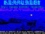 Hammurabi ZX Spectrum Title screen