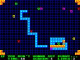 Pyromania: Trial By Fire ZX Spectrum Run over your blue blocks to put them on fire