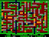 Pyromania: Trial By Fire ZX Spectrum Level 4 sees you put down non-flammable black tiles