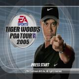 Tiger Woods PGA Tour 2005 PlayStation 2 The start screen