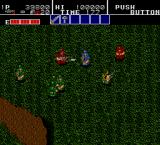 Bloody Wolf Arcade Fighting in long grass.