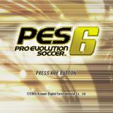 Winning Eleven: Pro Evolution Soccer 2007 PlayStation 2 The game's start screen