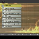 Winning Eleven: Pro Evolution Soccer 2007 PlayStation 2 Lots of game configuration controls can be accessed by selecting Options from the main menu. This is just one of the lower level menus