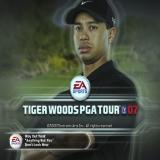 Tiger Woods PGA Tour 07 PlayStation 2 The great man himself. This is displayed when the game loads. After a few seconds the player is prompted to press the START key to begin the game