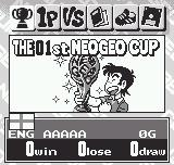 Neo Geo Cup '98 Plus Neo Geo Pocket Main menu