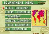 Neo Geo Cup '98: The Road to the Victory Arcade Tournament menu