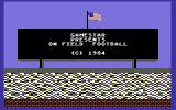 On-Field Football Commodore 64 Title Screen.