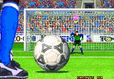 Neo Geo Cup '98: The Road to the Victory Arcade penalty kick  perspective