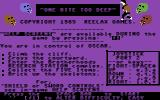 One Bite Too Deep Commodore 64 Title Screen.