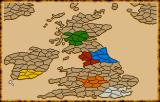 Vikings: Fields of Conquest - Kingdoms of England II Amiga Map of England