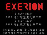 Exerion SG-1000 Title screen
