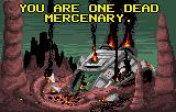 Zarlor Mercenary Lynx Game over screen