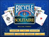 Bicycle Solitaire Windows Title and Main Menu