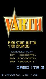 Varth: Operation Thunderstorm Arcade Title screen