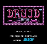 Druid NES Title screen