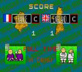 Kick Off 2 Sharp X68000 Looks like there was a washing machine accident for the French team which has purple jerseys here instead of their Les Bleus