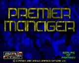 Premier Manager Amiga Title screen