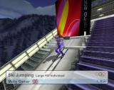 Torino 2006 PlayStation 2 Preparing for the Ski Jump. The player has the choice of the normal hill or this, the big hill