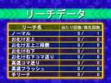 Hissatsu Pachinko Station Monster House Special PlayStation Pressing the cross key brings up a menu from which game stats can be accessed.