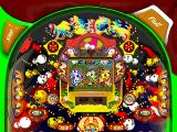 Hissatsu Pachinko Station Now 3 PlayStation The first table. To make the central reels spin steel balls must drop into the gap between the two small orange quadrants that are just above the word START in the lower centre of the screen