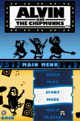 Alvin and the Chipmunks Nintendo DS Title/menu screen.