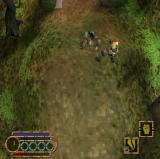 Godai: Elemental Force PlayStation 2 In combat the opponents have a health bar.