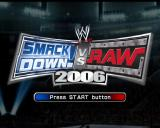 WWE Smackdown vs. Raw 2006 PlayStation 2 The game's START screen