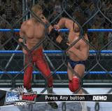 WWE Smackdown vs. Raw 2006 PlayStation 2 If the player leaves the game alone at the START screen it will load and run a series of short demonstrations. Some, like this are in a cage while others are in a ring