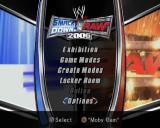 WWE Smackdown vs. Raw 2006 PlayStation 2 The game's main menu