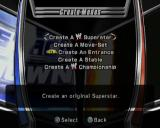 WWE Smackdown vs. Raw 2006 PlayStation 2 The Create menu is accessed from the Main menu. Here the player can create new players, customise their moves, appearance and more