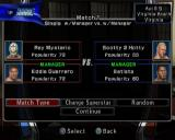 WWE Smackdown vs. Raw 2006 PlayStation 2 Playing a General Manager game. It's match day and the player must decide which wrestlers to field and what kind of matches they are competing in, or it can be set automatically