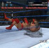 WWE Smackdown vs. Raw 2006 PlayStation 2 During a fight the referee becomes transparent if he gets in the player's line of sight. Also the game prompts the player to take action, as in this case to escape from a hold