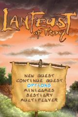 Lanfeust de Troy Nintendo DS Title/menu screen.
