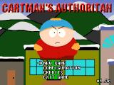 South Park: Cartman's Authoritah Windows Main menu
