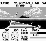 Racing Damashii Game Boy Endurance mode! It's raining... and the tires are fucked... but I can still race!