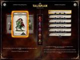 Talisman: Prologue Windows Character selection - Displaying a warrior, able to throw two dice during combat and use the highest roll as the end result.