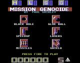Mission Genocide Commodore 64 Title Screen.