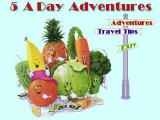 Dole 5 A Day Adventures Windows 3.x The Travel Tips option takes the player into a section that explains all the in-game icons. The Adventure's option starts the game