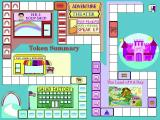 Dole 5 A Day Adventures Windows 3.x The tokens earned complete pathways on the game board. Here the Salad Factory and Information Land are complete while the Body Shop and the Adventure Theater need too be revisited.